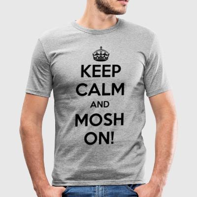 KEEP CALM AND PÅ MOSH! - Herre Slim Fit T-Shirt