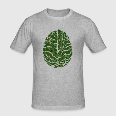 Brain, anatomy, drawing, medical - Men's Slim Fit T-Shirt