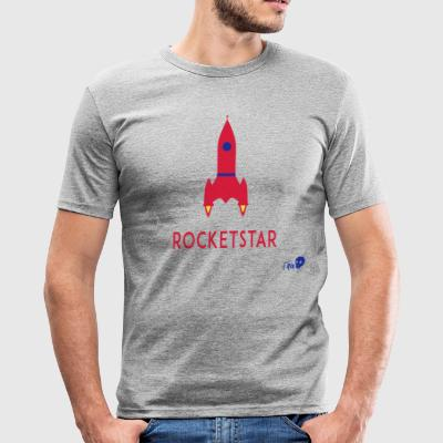 ROCKET STAR - Herre Slim Fit T-Shirt