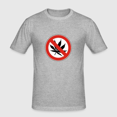 NO DRUGS - Männer Slim Fit T-Shirt