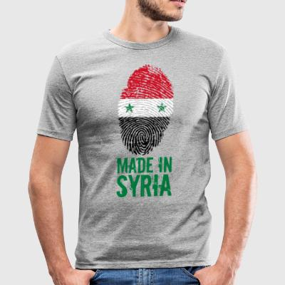 Made in Syria / Gemacht in Syrien الجمهورية - Männer Slim Fit T-Shirt