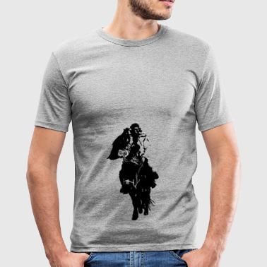 Lonely Mongol I Sort I - Herre Slim Fit T-Shirt