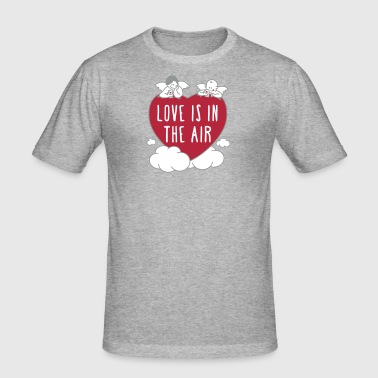 valentine - love is in the air 3c - Männer Slim Fit T-Shirt
