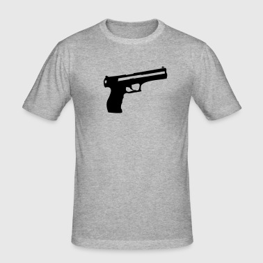 Pistol Gun Weapon - Herre Slim Fit T-Shirt