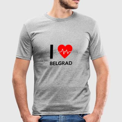 I Love Belgrade - I love Belgrade - Men's Slim Fit T-Shirt