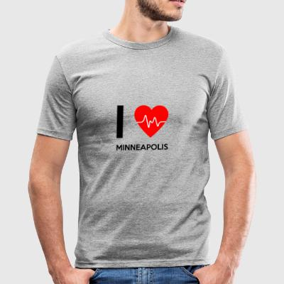 I Love Minneapolis - I Love Minneapolis - Slim Fit T-skjorte for menn