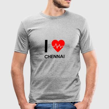 I Love Chennai - I Love Chennai - Herre Slim Fit T-Shirt
