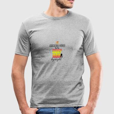 Agricultural worker by day and super mom by night - Men's Slim Fit T-Shirt