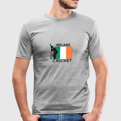 Ierland Cricket Player Vlag - slim fit T-shirt