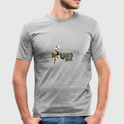 BASKETBALL HINTERHOF 01 - Männer Slim Fit T-Shirt