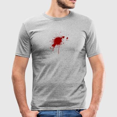 Blood Spatter From A Bullet Wound - Men's Slim Fit T-Shirt