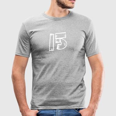 Number 15 Fifteen fifteen wood optics HATRIK DESIGN - Men's Slim Fit T-Shirt