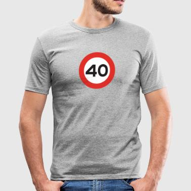 40mph - Slim Fit T-skjorte for menn