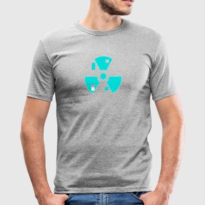 Radioactive atoms - Men's Slim Fit T-Shirt