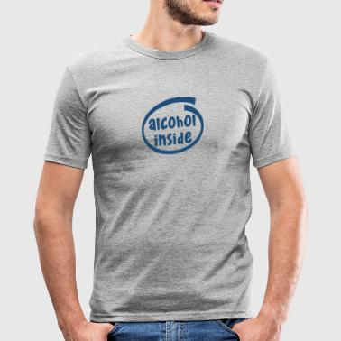 alcohol inside (1841C) - Männer Slim Fit T-Shirt