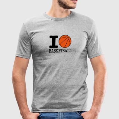 I love basketball / I love basketball - Men's Slim Fit T-Shirt