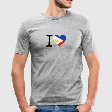 I Love The Philippines - Men's Slim Fit T-Shirt