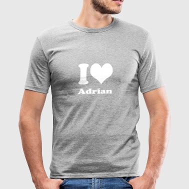 I love Adrian - Männer Slim Fit T-Shirt