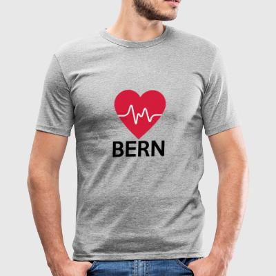 hjerte Bern - Herre Slim Fit T-Shirt