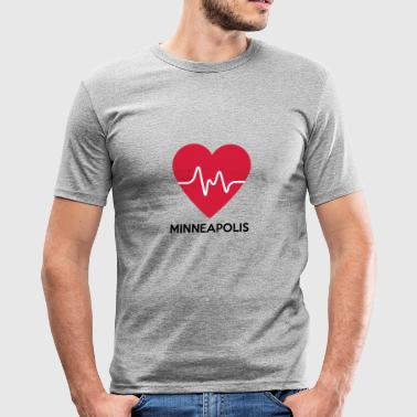 heart Minneapolis - Men's Slim Fit T-Shirt