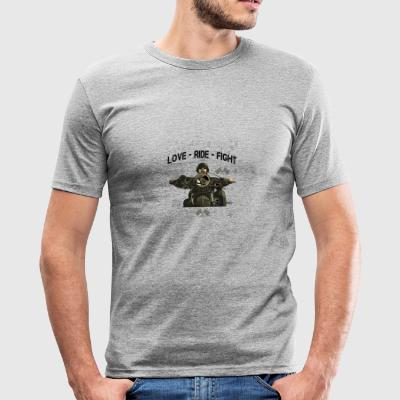 RIDE MOTORBIKE - LOVE - FIGHT - Men's Slim Fit T-Shirt