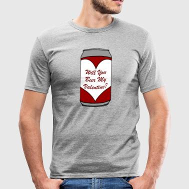 Kommer du Beer My Valentine? - Slim Fit T-shirt herr