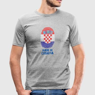 flag Kroatië - Flag - Made in Kroatië Gift - slim fit T-shirt