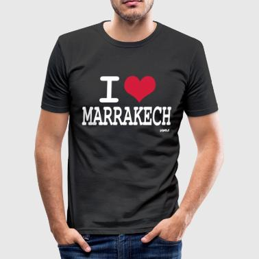 i love marrakech by wam - Tee shirt près du corps Homme