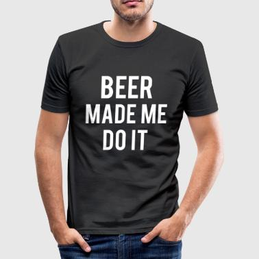 Beer - Slim Fit T-shirt herr