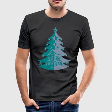 MR Spreadshirt Tree House - slim fit T-shirt