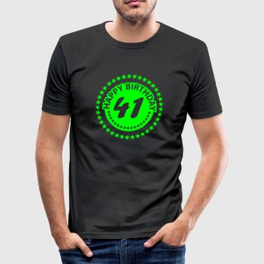 41. Birthday 41 - Männer Slim Fit T-Shirt