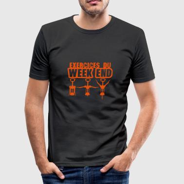 exercices week end tire bouchon gym 1912 - Tee shirt près du corps Homme