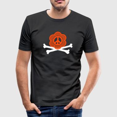 peace sign - Männer Slim Fit T-Shirt