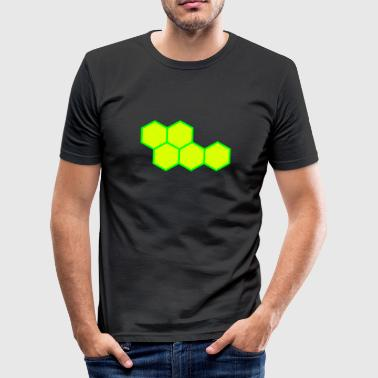 Hexagon Hexagon - Männer Slim Fit T-Shirt