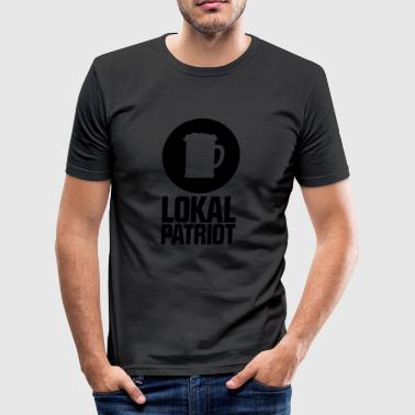 Lokalpatriot Bier - Männer Slim Fit T-Shirt