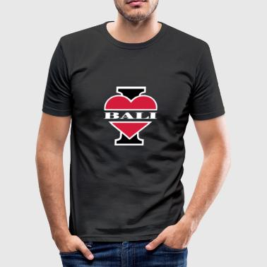 I love Bali - Männer Slim Fit T-Shirt