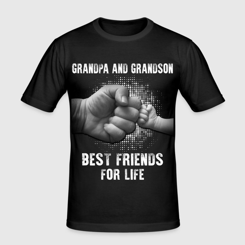 Grandpa And Grandson Best Friends For Life - Men's Slim Fit T-Shirt