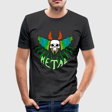 Just Metal - Männer Slim Fit T-Shirt