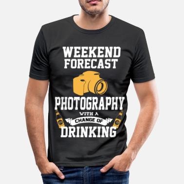 Slr Photography With A Chance Of Drinking - Men's Slim Fit T-Shirt