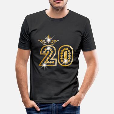 Burlesque 20 - Birthday - Queen - Gold - Burlesque - Slim fit T-shirt mænd
