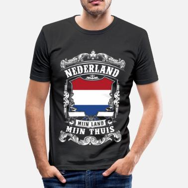 Vlag Nederland - Holland - slim fit T-shirt