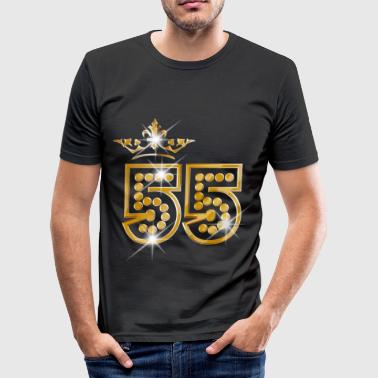 55 - Birthday - Queen - Gold - Burlesque - Camiseta ajustada hombre