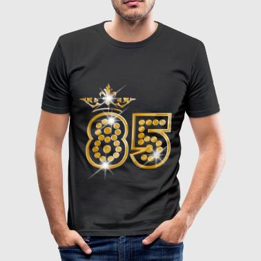 85 - Birthday - Queen - Gold - Burlesque - Camiseta ajustada hombre