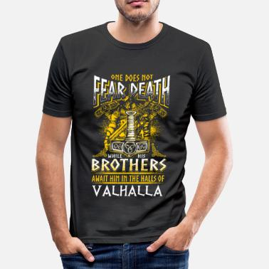 Valhalla Await Me Does Not Fear Death - Viking - EN - T-shirt près du corps Homme