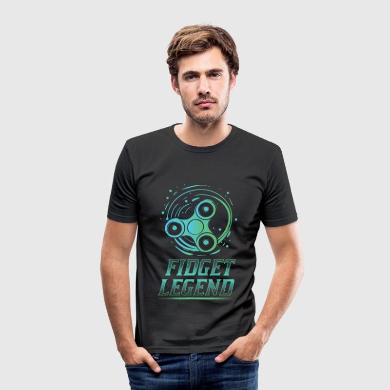 Fidget Legende - Fidget Spinner - Männer Slim Fit T-Shirt
