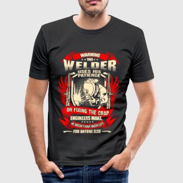 Welder Fixing Crap Engineers Make – EN - Maglietta aderente da uomo