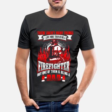 Brandweer Firefighter Dad - EN - slim fit T-shirt