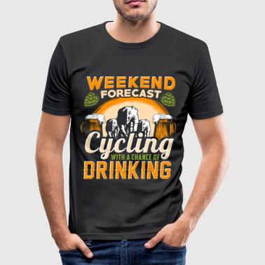 Fahrrad - Weekend Forecast - EN - Men's Slim Fit T-Shirt