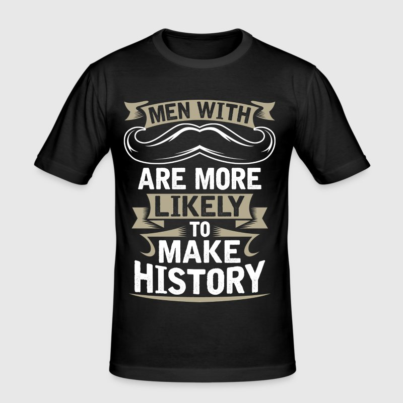 MUSTACHE - Men's Slim Fit T-Shirt