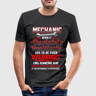 Mechanic - Fixed overnight - EN - Camiseta ajustada hombre
